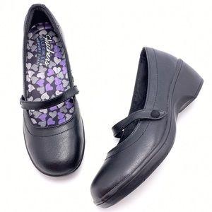 Skechers Flexibles Memory Foam 7 Black Mary Janes